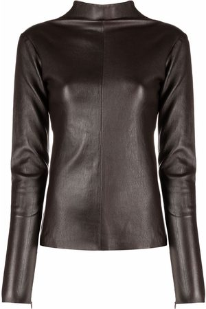 Manokhi Leather high-neck top
