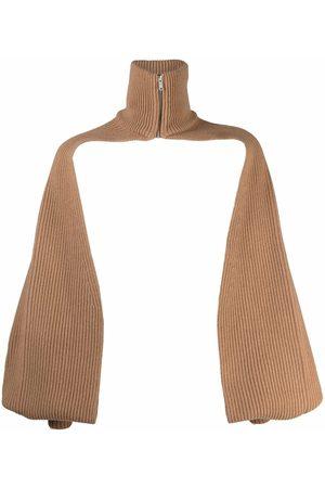 AMBUSH High neck bodyless poncho - Neutrals