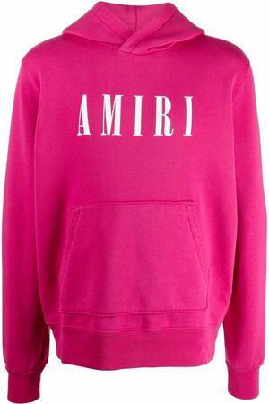 AMIRI Logo-print long-sleeve hoodie