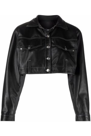 Manokhi Cropped leather jacket