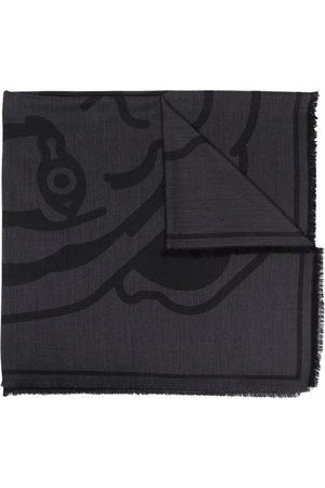 Kenzo Tiger-print scarf - Grey