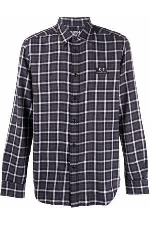 Diesel Check-print flannel shirt