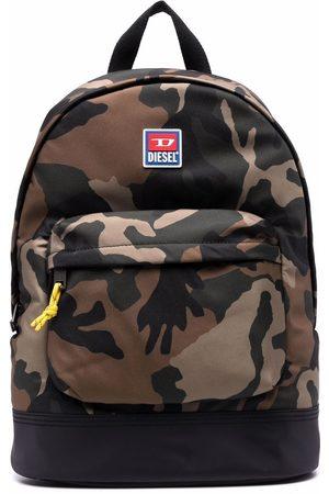 Diesel Camouflage-print backpack