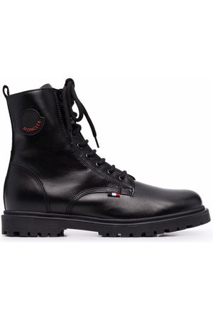 Moncler Lace-up leather boots