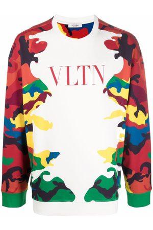 VALENTINO Camouflage logo-print sweatshirt