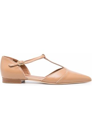 MALONE SOULIERS Ankle-strap ballerina shoes - Neutrals