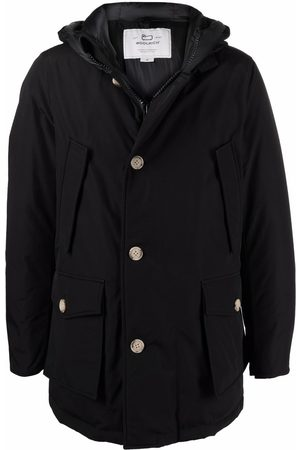 Woolrich Men Puffer Jackets - Buttoned padded coat