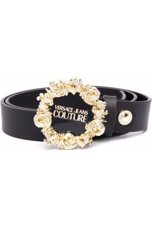 VERSACE Women Belts - Logo-plaque leather belt