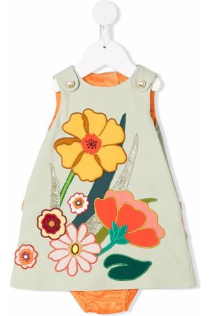 Dolce & Gabbana Baby Printed Dresses - Floral-embroidered sleeveless dress