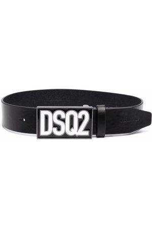 Dsquared2 Kids Boys Belts - Logo-plaque leather belt