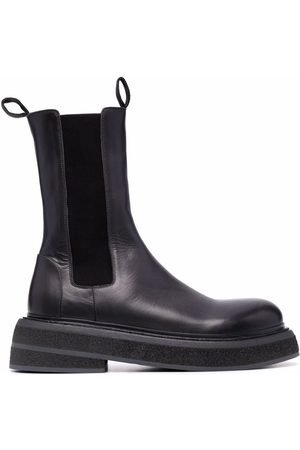 MARSÈLL Chunky leather Chelsea boots - Grey