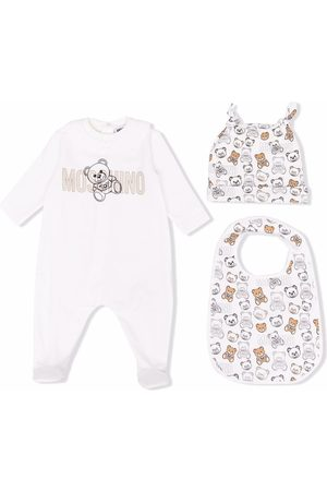 Moschino Kids Bodysuits & All-In-Ones - Teddy bear print babygrow