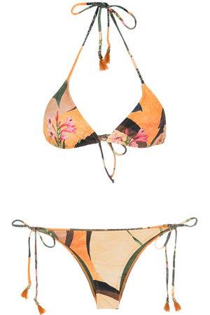 Lygia & Nanny Women Bikinis - Floral-print halterneck bikini
