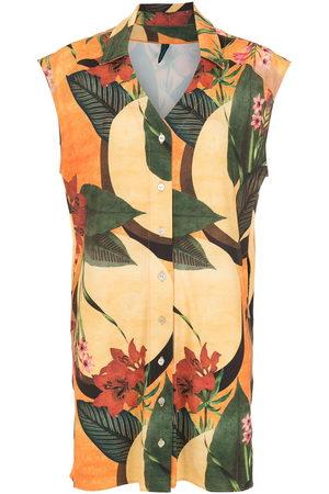 Lygia & Nanny Women Printed Dresses - Floral leaf print shirt dress
