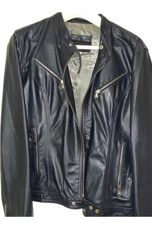 SANDRO FERRONE Leather biker jacket