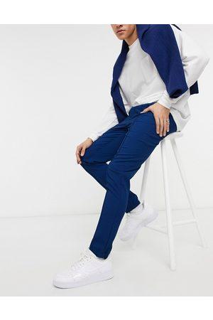 ASOS Skinny smart sweatpants in pique cobalt blue - part of a set-Blues