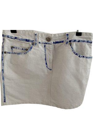 Alexander McQueen Linen mini skirt