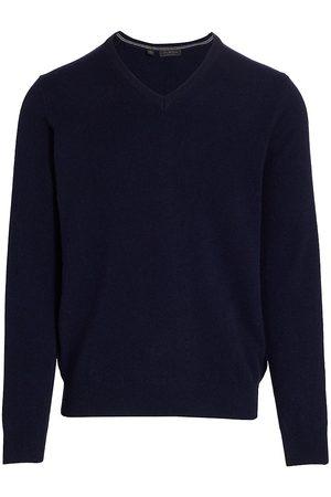 Saks Fifth Avenue Men's COLLECTION Cashmere V-Neck Sweater - Navy - Size XXXL