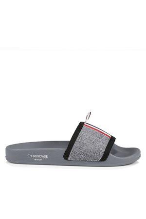 Thom Browne Men's Pool Slides - Med Grey - Size 6 Sandals
