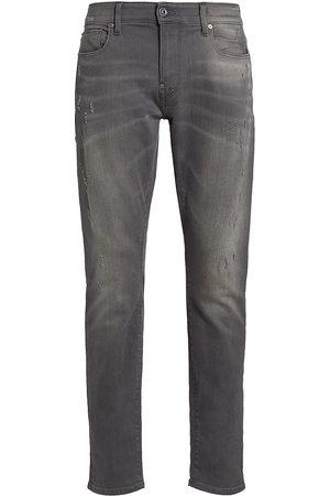 G-Star RAW Men's Revend Distressed Skinny Jeans - Grey - Size 36