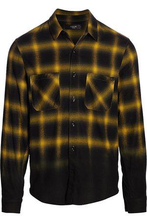AMIRI Men Shirts - Dip-Dye Shadow Plaid Shirt
