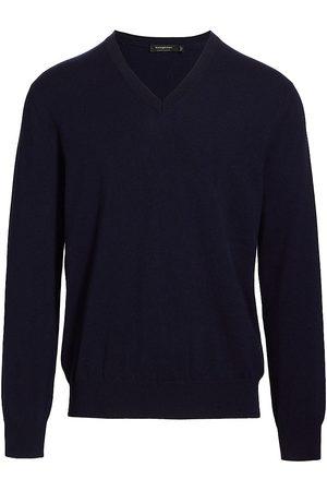 Ermenegildo Zegna Men's Cashmere V-Neck Sweater - Navy - Size 46