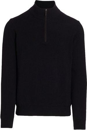 Saks Fifth Avenue Men's COLLECTION Cashmere Quarter Zip Sweater - - Size Medium