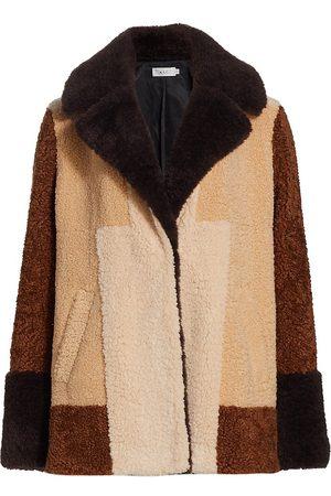 A.L.C. Women's Stefan Colorblocked Teddy Coat - Multi - Size XS