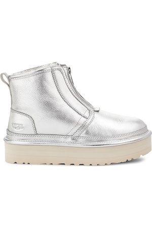UGG Women's Neumel Metallic Sheepskin Platform Boots - - Size 11
