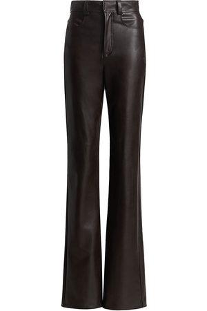 A.L.C. Women's Christopher Vegan Leather Flare Pant - Carob - Size 4