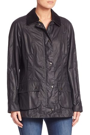 Barbour Women's Beadnell Waxed Cotton Jacket - Navy - Size 12