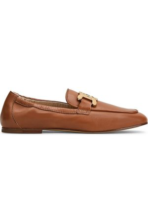 Tod's Women's Kate Elastic Back Leather Loafers - Cognac - Size 10.5