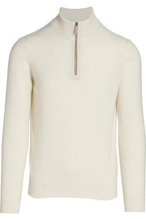 Saks Fifth Avenue Men's COLLECTION Cashmere Quarter Zip Sweater - - Size XXL