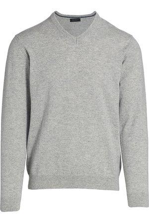 Saks Fifth Avenue Men's COLLECTION Cashmere V-Neck Sweater - Light Grey - Size XXL