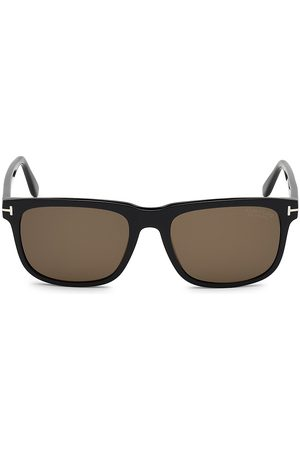 Tom Ford Men's Stephenson 56MM Square Sunglasses - Dark