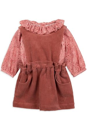 Chloé Baby Girl's & Little Girl's Paisley-Print Top & Corduroy Dress Set - Salmon - Size 18 Months