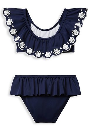 Janie and Jack Baby Swimsuits - Baby Girl's 2-Piece Swimsuit - Navy - Size 4