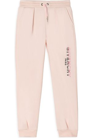 Givenchy Sweatpants - Little Girl's & Girl's Logo Outline Joggers - Pale - Size 10