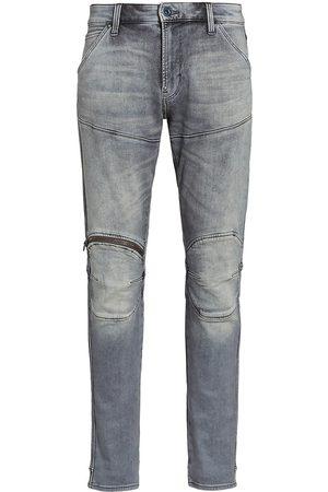 G-Star RAW Men Skinny - Men's 3D Zip Knee Skinny Jeans - Sun Faded Glacier Grey - Size 36