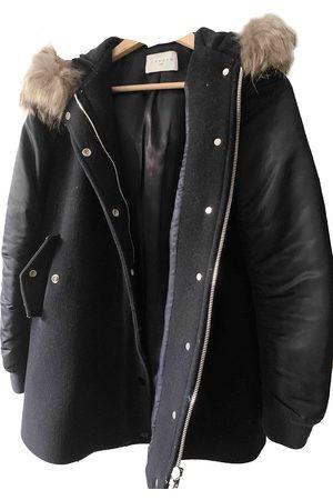 Sandro Navy Wool Coats