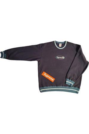 Supreme Men Sweatshirts - Navy Cotton Knitwear & Sweatshirt