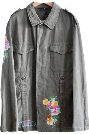 Philipp Plein Men Jackets - Khaki Cotton Jackets
