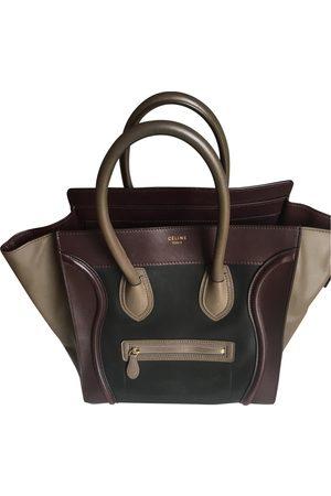 Céline Women Purses - Burgundy Leather Handbags