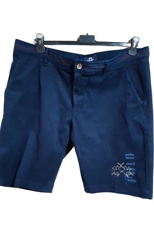 La Martina Navy Cotton Shorts