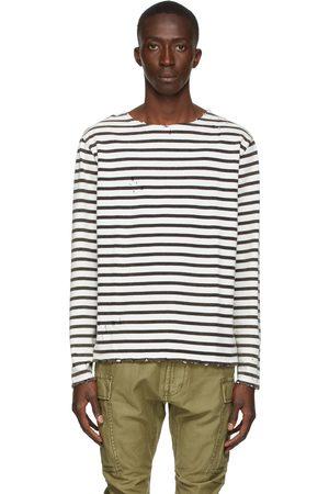 R13 Black & Off-White Breton Long Sleeve T-Shirt