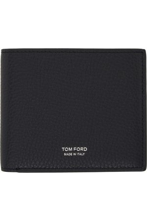 Tom Ford Navy Leather Bifold Wallet