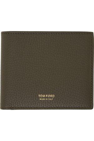 TOM FORD Khaki Leather Bifold Wallet