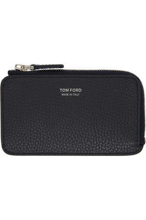 Tom Ford Navy Medium Zip Wallet