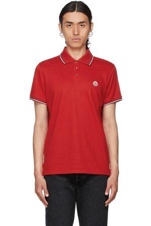 Moncler Red Logo Polo