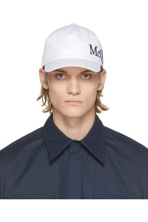 Alexander McQueen White & Black Logo Cap